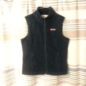 Vineyard Vines Navy Blue Fleece Vest Size XS